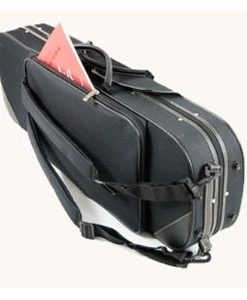 Pedi 4/4 Violin Case - Black with Black Leather Trim